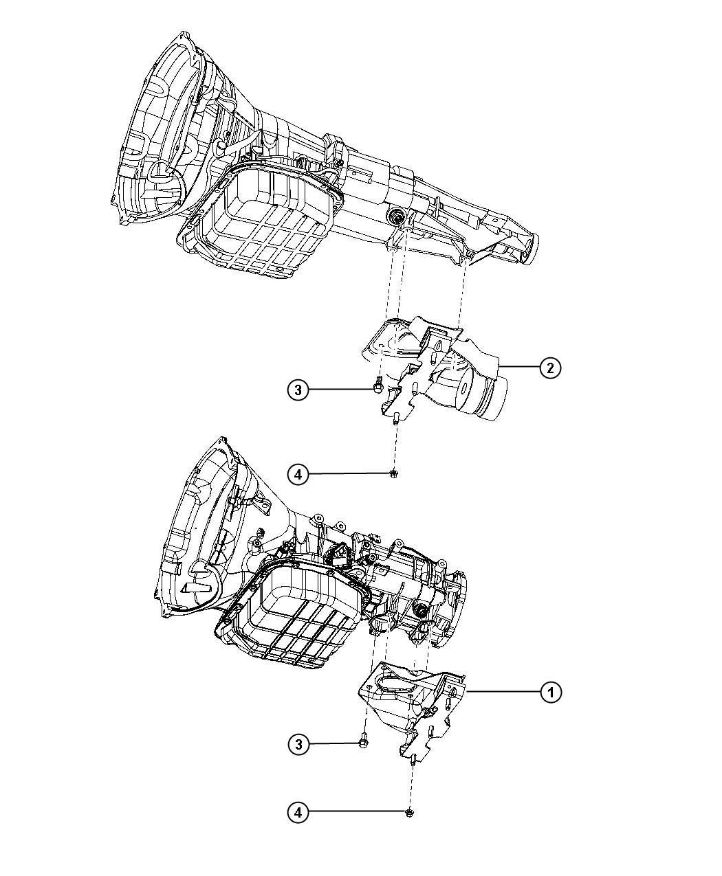 Dodge Ram 2500 Insulator. Transmission support. Engine
