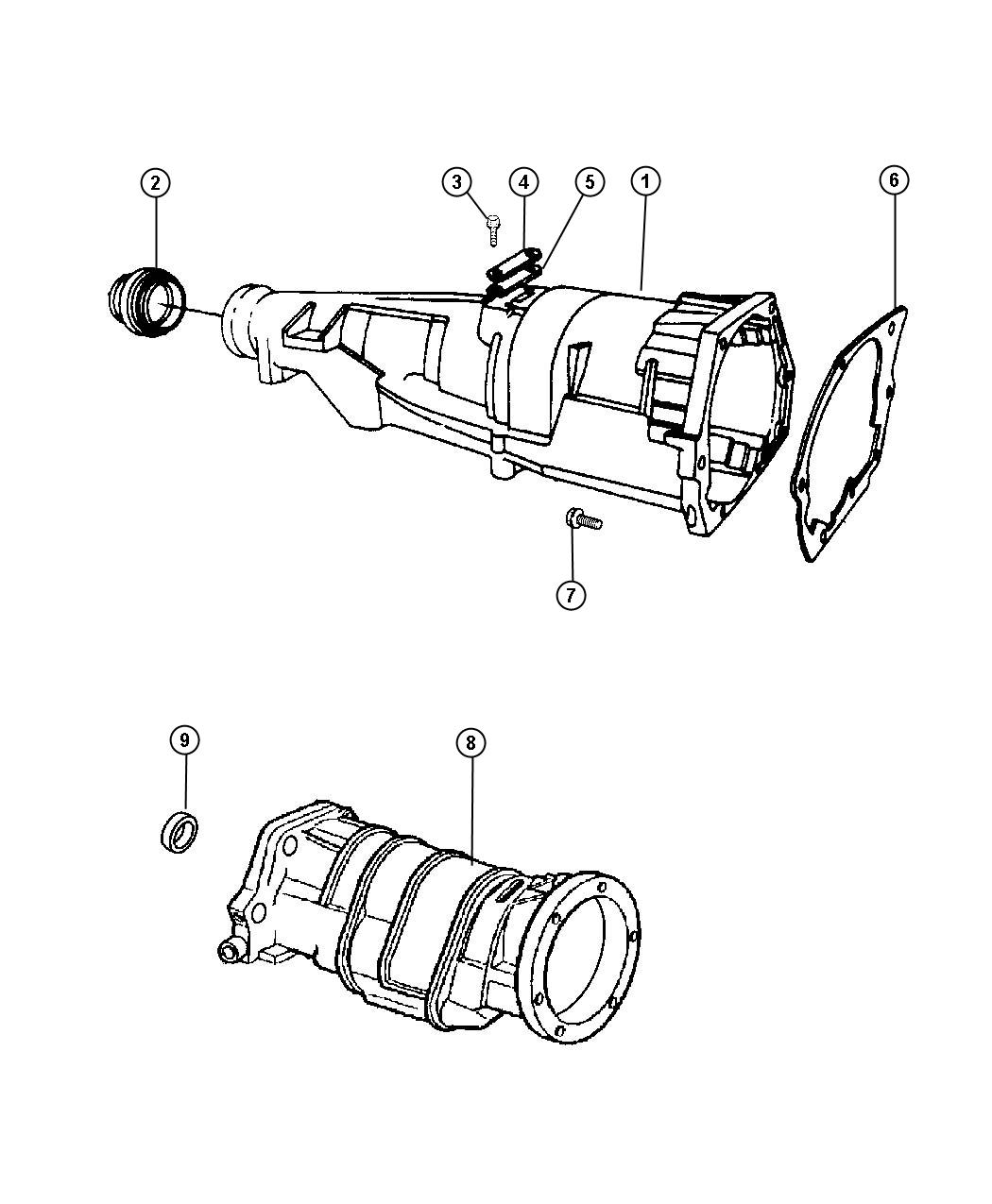 Dodge Ram Adapter Transfer Case Extension