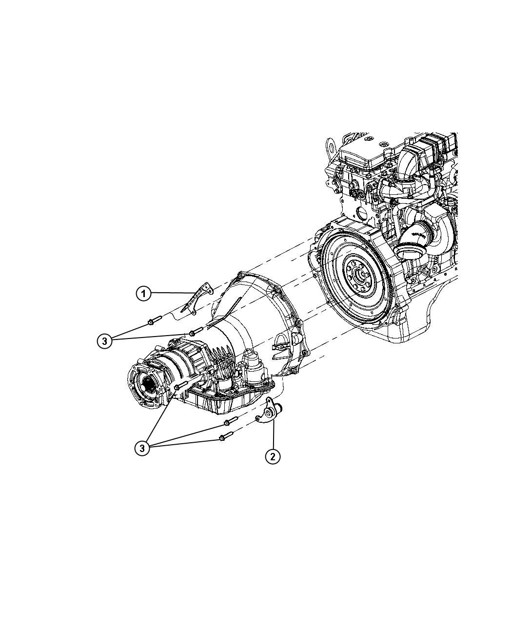 Dodge Ram 3500 Bracket. Transmission line. Trans wiring