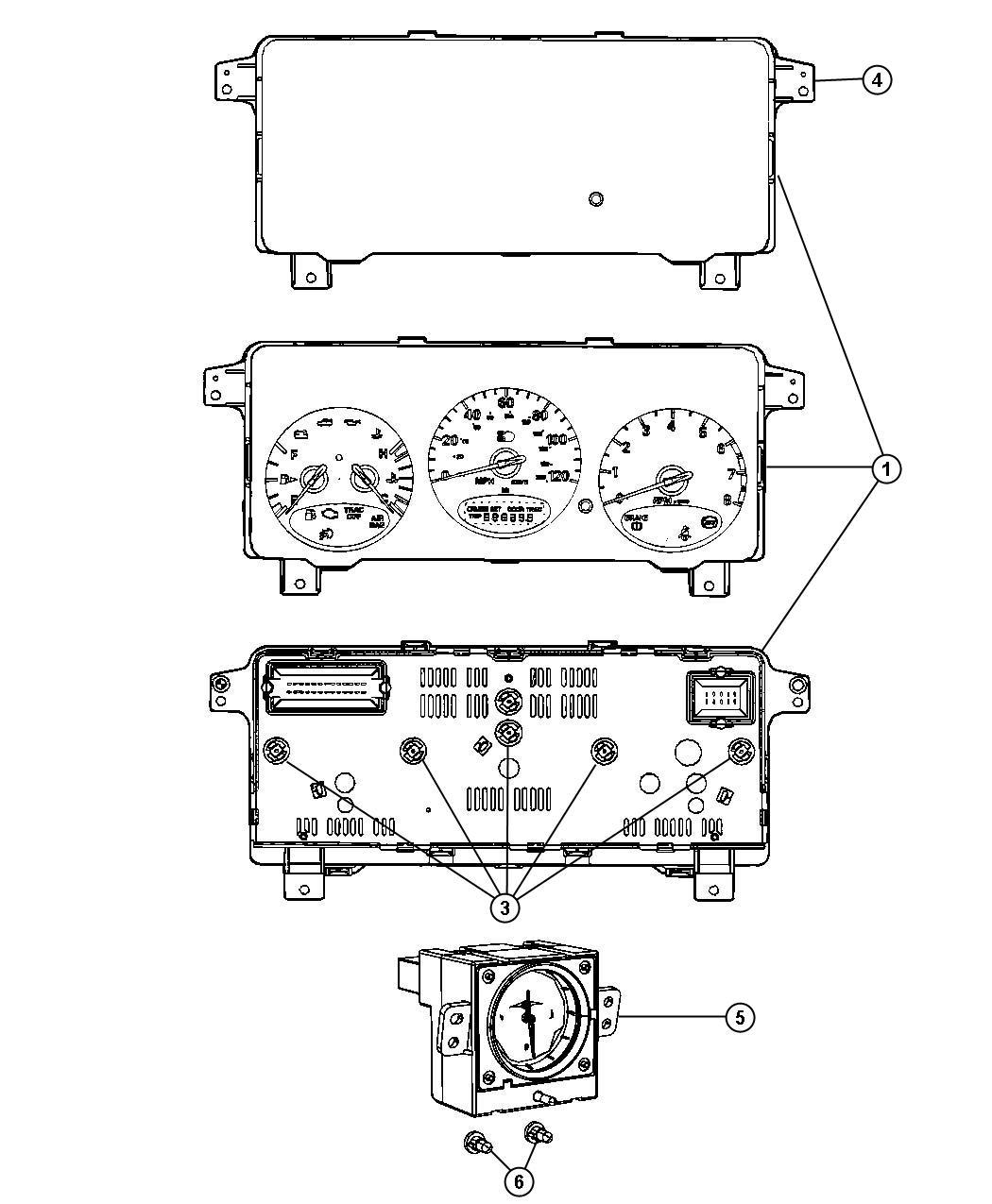 Chrysler Pt Cruiser Cluster Instrument Panel