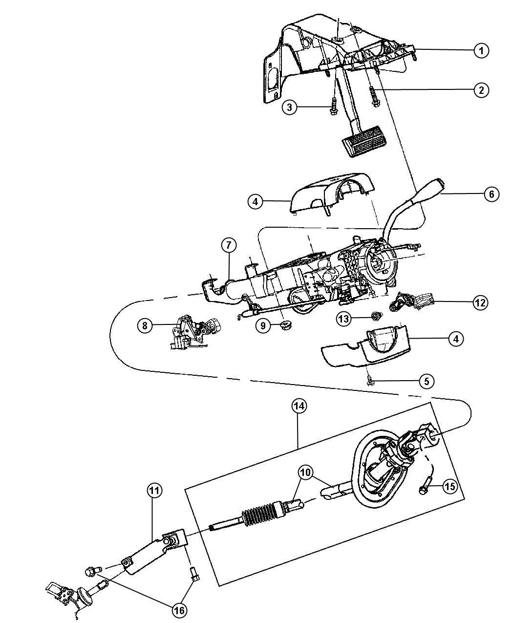 2011 Dodge Ram 1500 Shroud. Steering column. Trim: (*o0