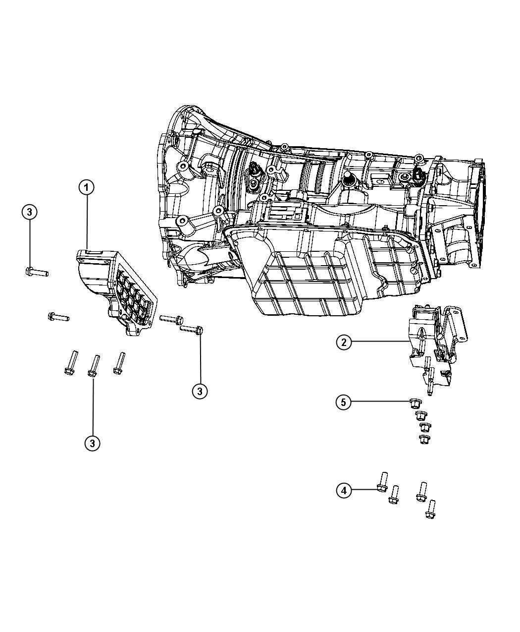 Dodge Ram Bracket Transmission Mount Body 98