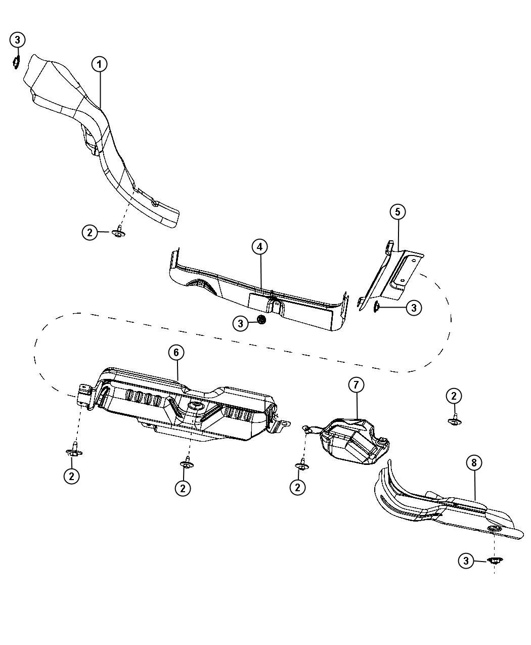 Dodge Grand Caravan Deflector, shield. Heat, spare tire