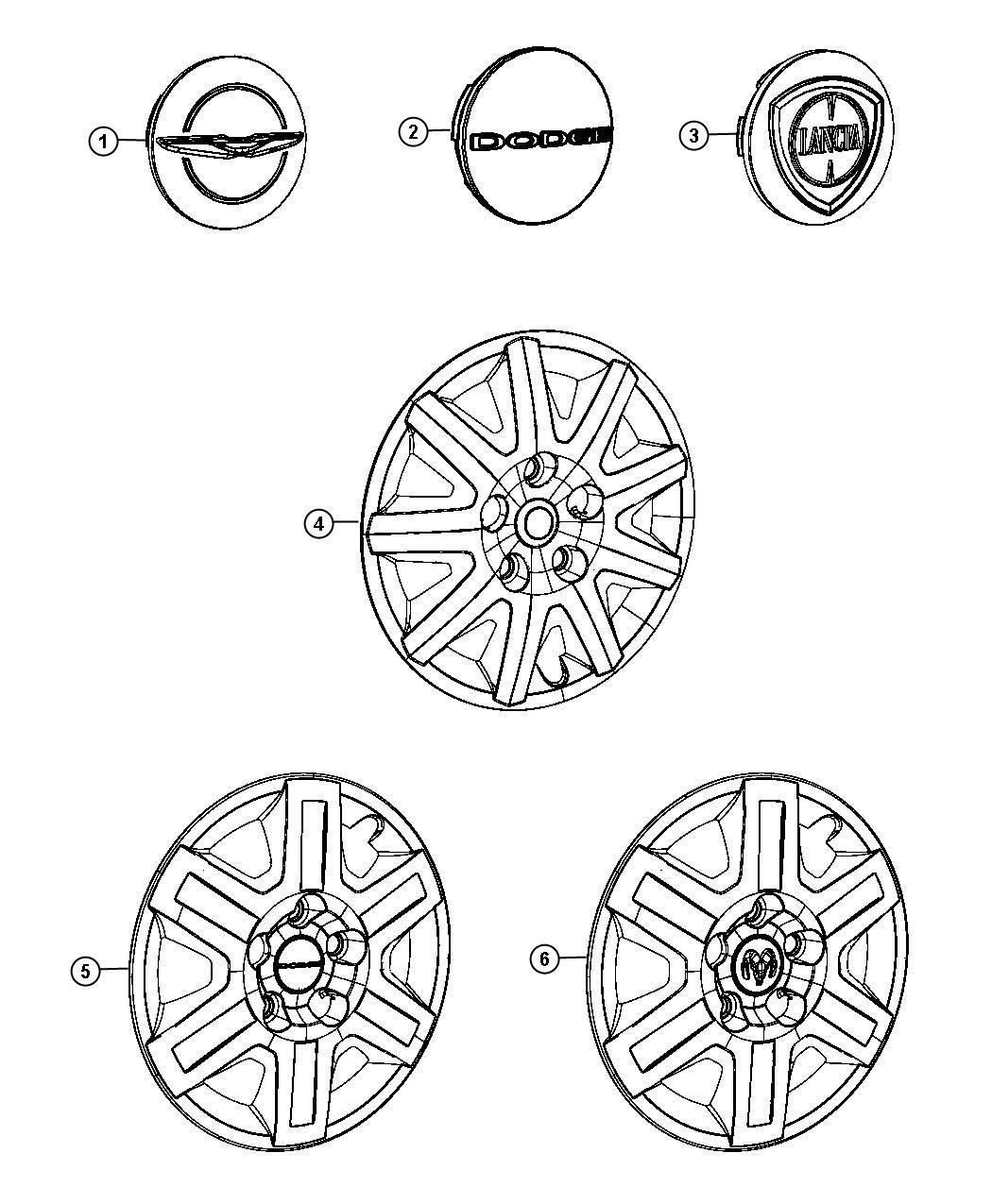 2012 Dodge Grand Caravan Cover. Wheel. Covers, inch