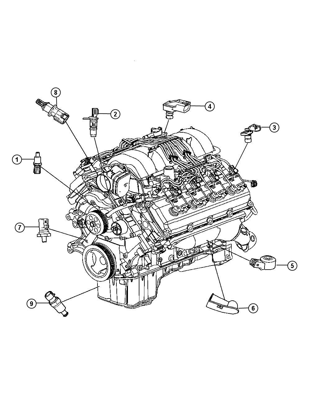 2012 Dodge Challenger Sensor. Crankshaft position. Sensors