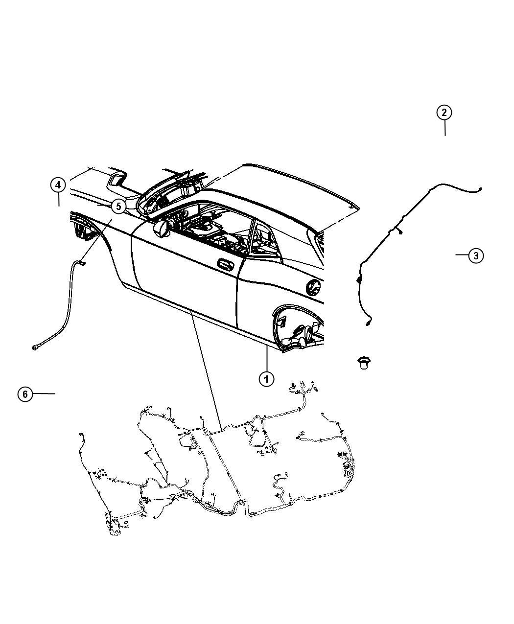 2012 Dodge Challenger Wiring. Rear fascia. Park, assist