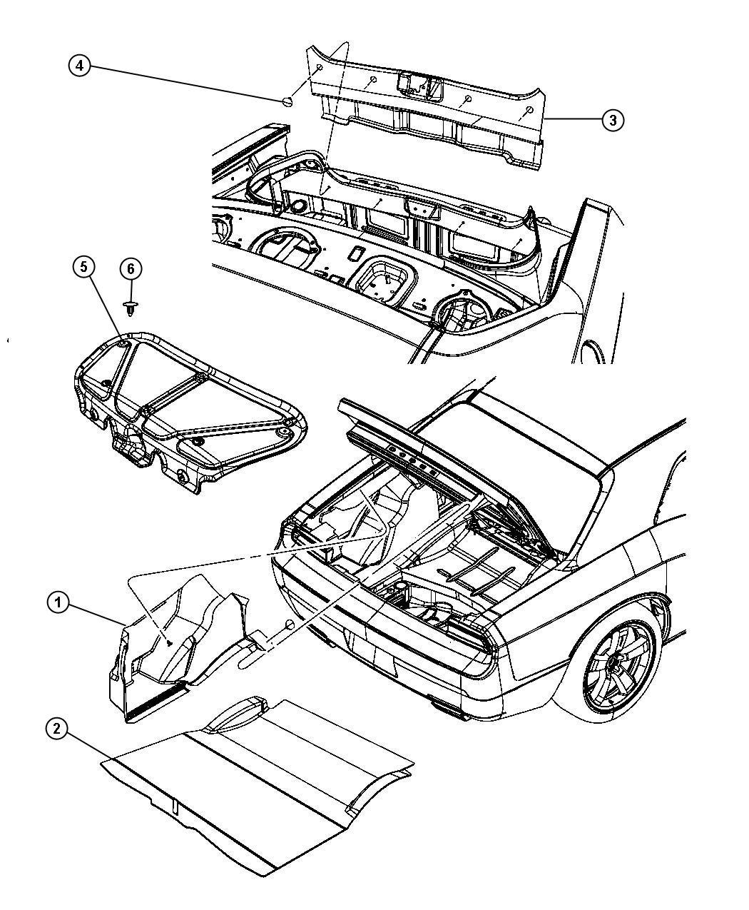 2012 Dodge Challenger Cover. Decklid interior trim. [trunk