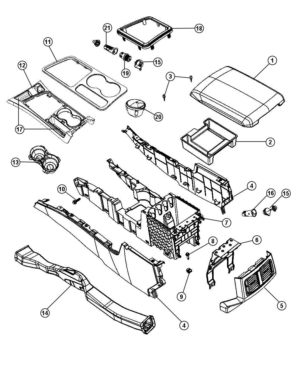 Dodge Challenger Bezel. Console shifter. [flr console w