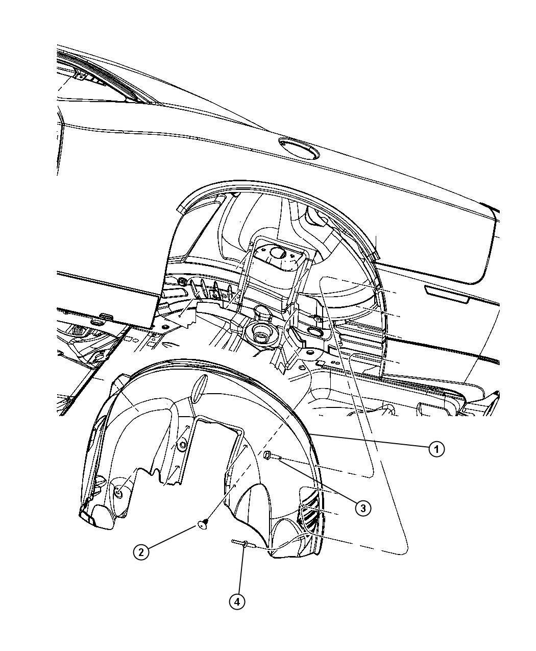 Dodge Challenger Shield. Splash. Rear. Right. X series