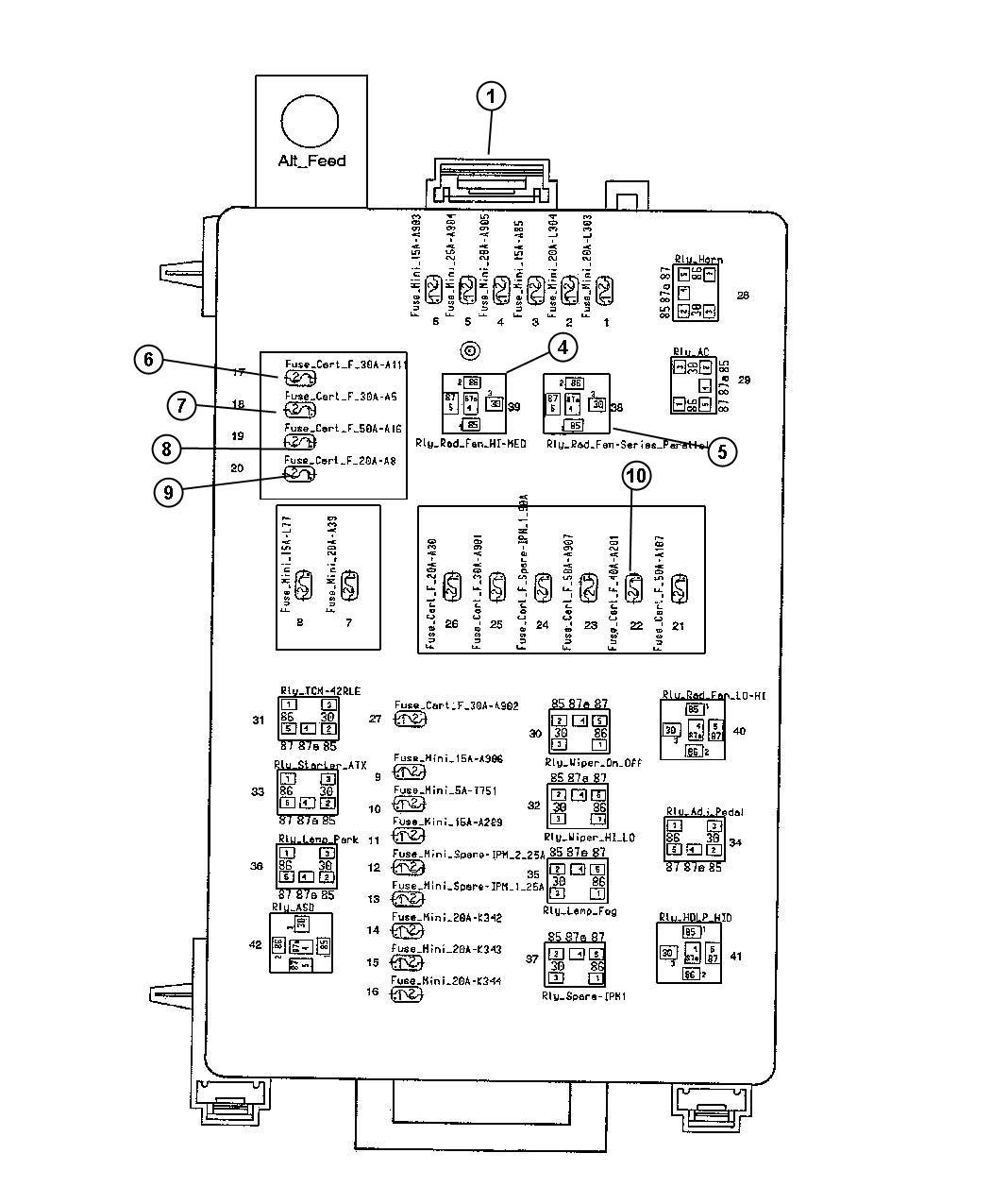 2016 Dodge Challenger Fuse. J case. 30 amp. Adaptive