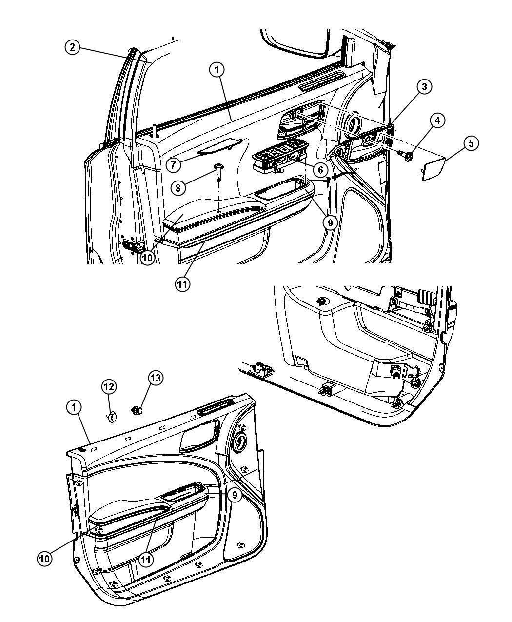 Dodge Charger Armrest Front Door Trim Left Trim