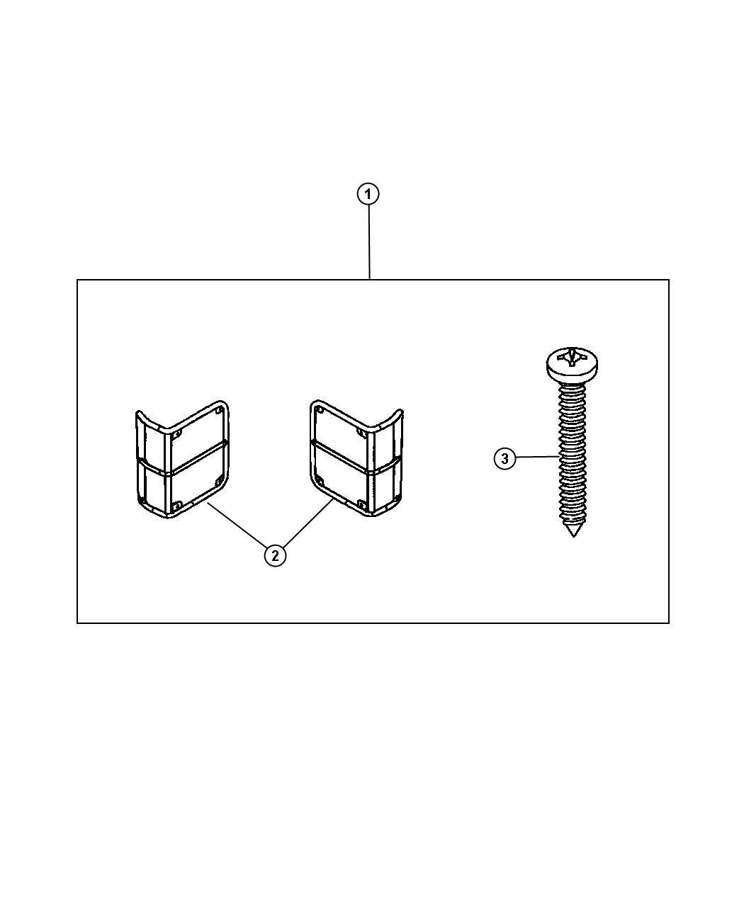 2011 Jeep Wrangler Screw. Tapping pan head. M4.2x1.70x45