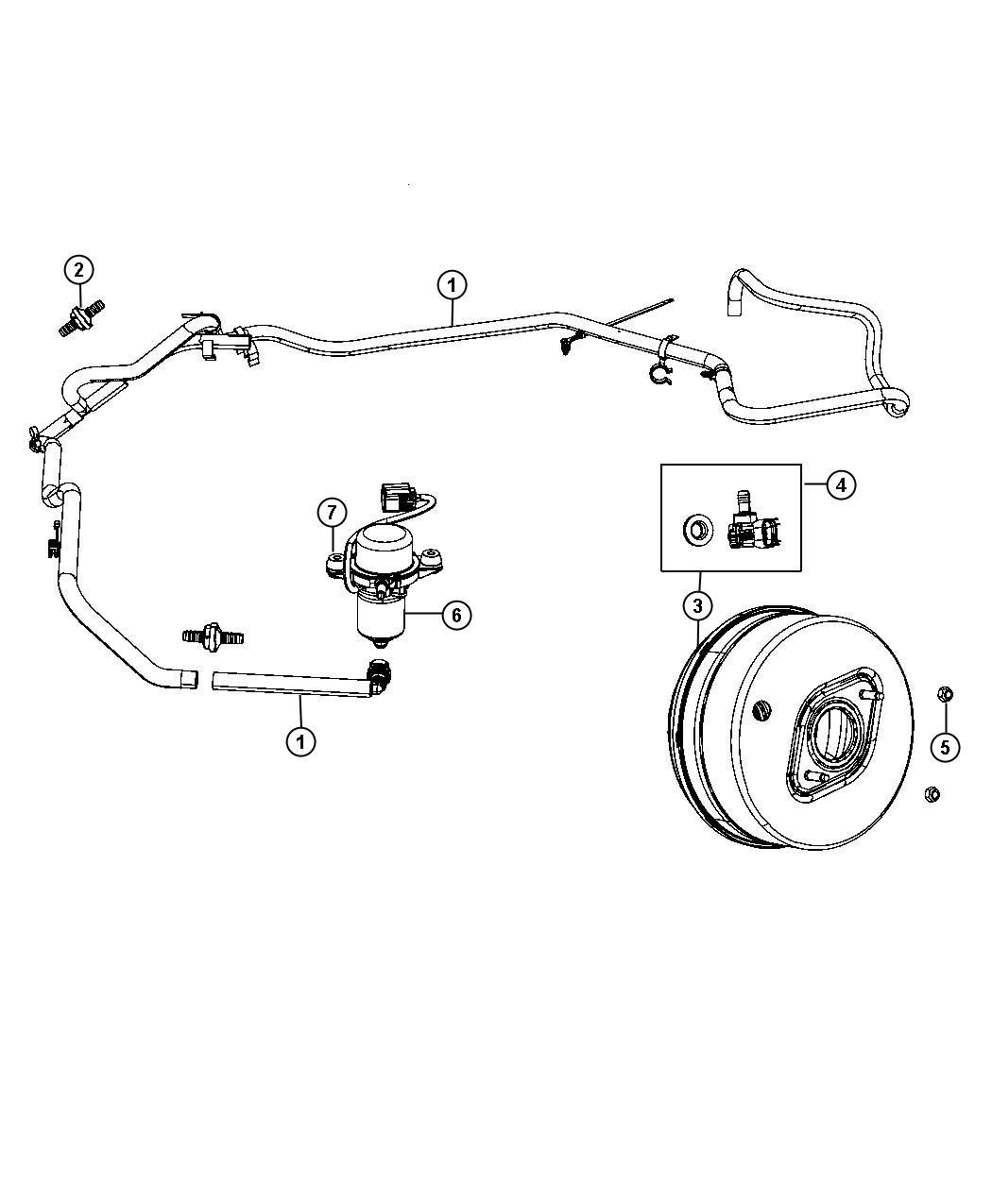 Jeep Grand Cherokee Hose Brake Booster Vacuum Mds
