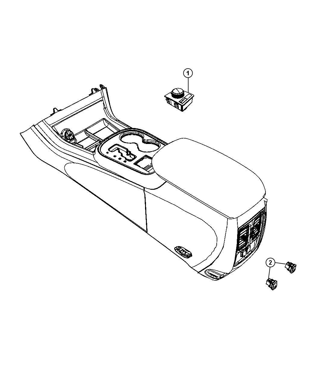 2012 Jeep Grand Cherokee Switch. Transfer case. [quadra