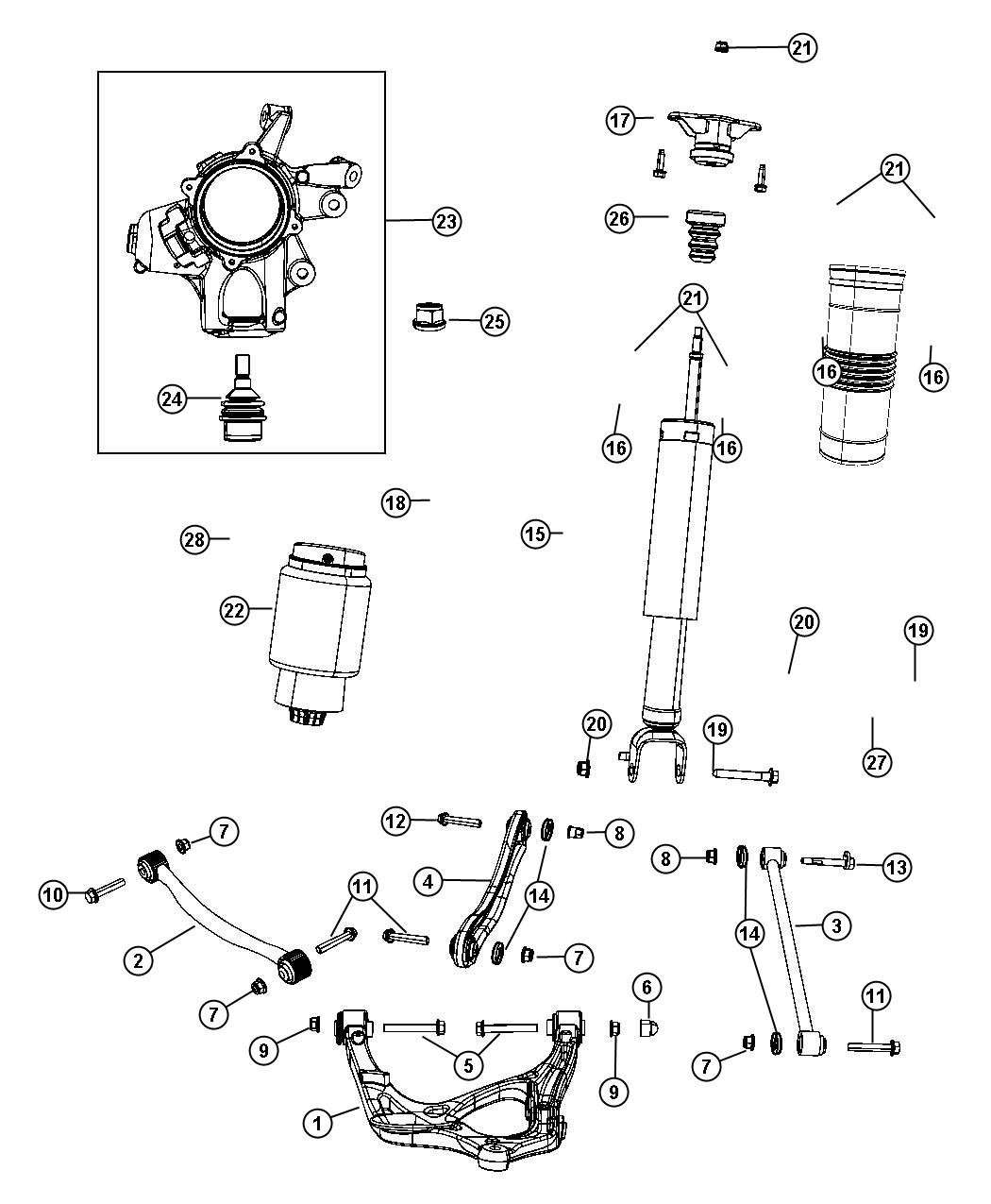 2012 Jeep Grand Cherokee Shock absorber kit. Suspension