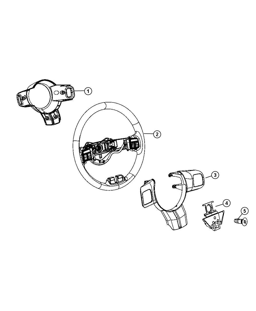 2012 Jeep Grand Cherokee Wheel. Steering. Export. Trim