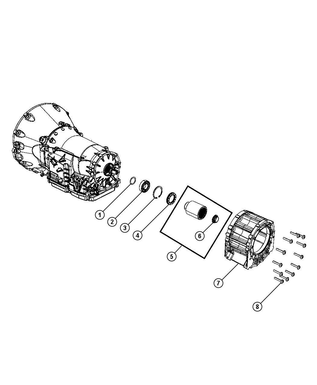 2012 Jeep Grand Cherokee Adapter. Transfer case