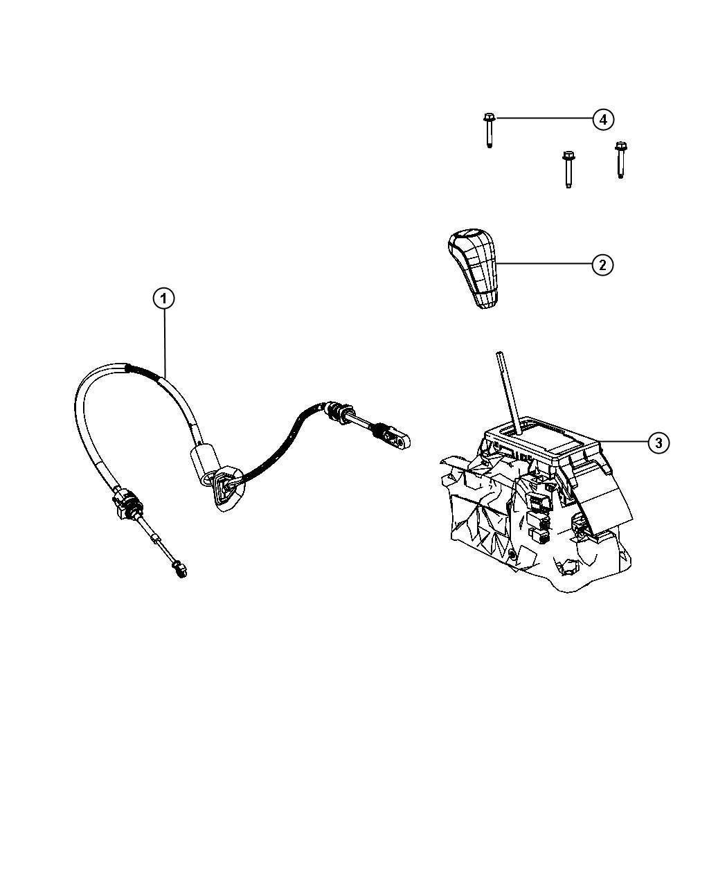 2012 Jeep Grand Cherokee Knob. Gearshift. [urethane shift