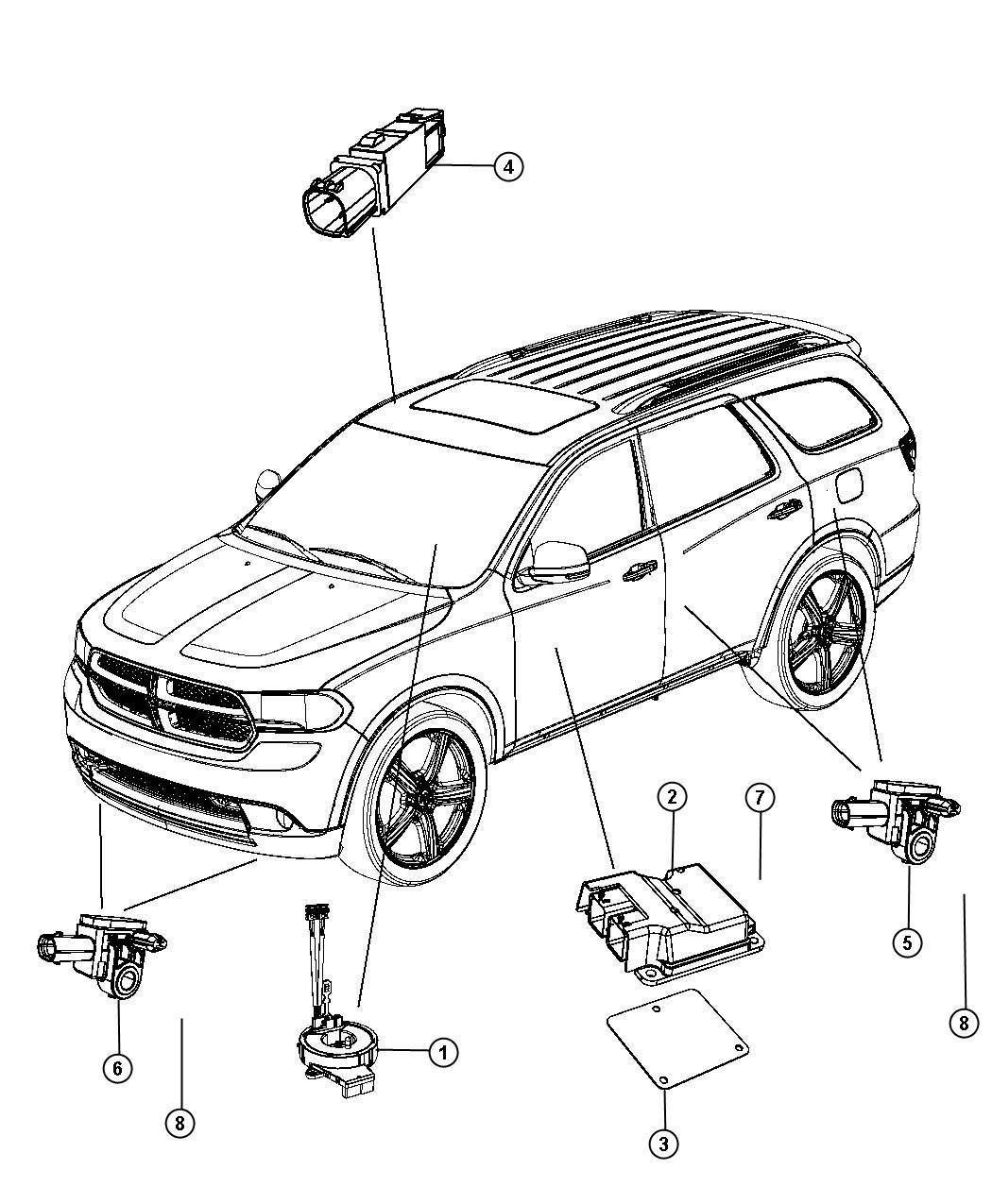 2013 Dodge Durango Module. Occupant restraint. [cf9], [cfp