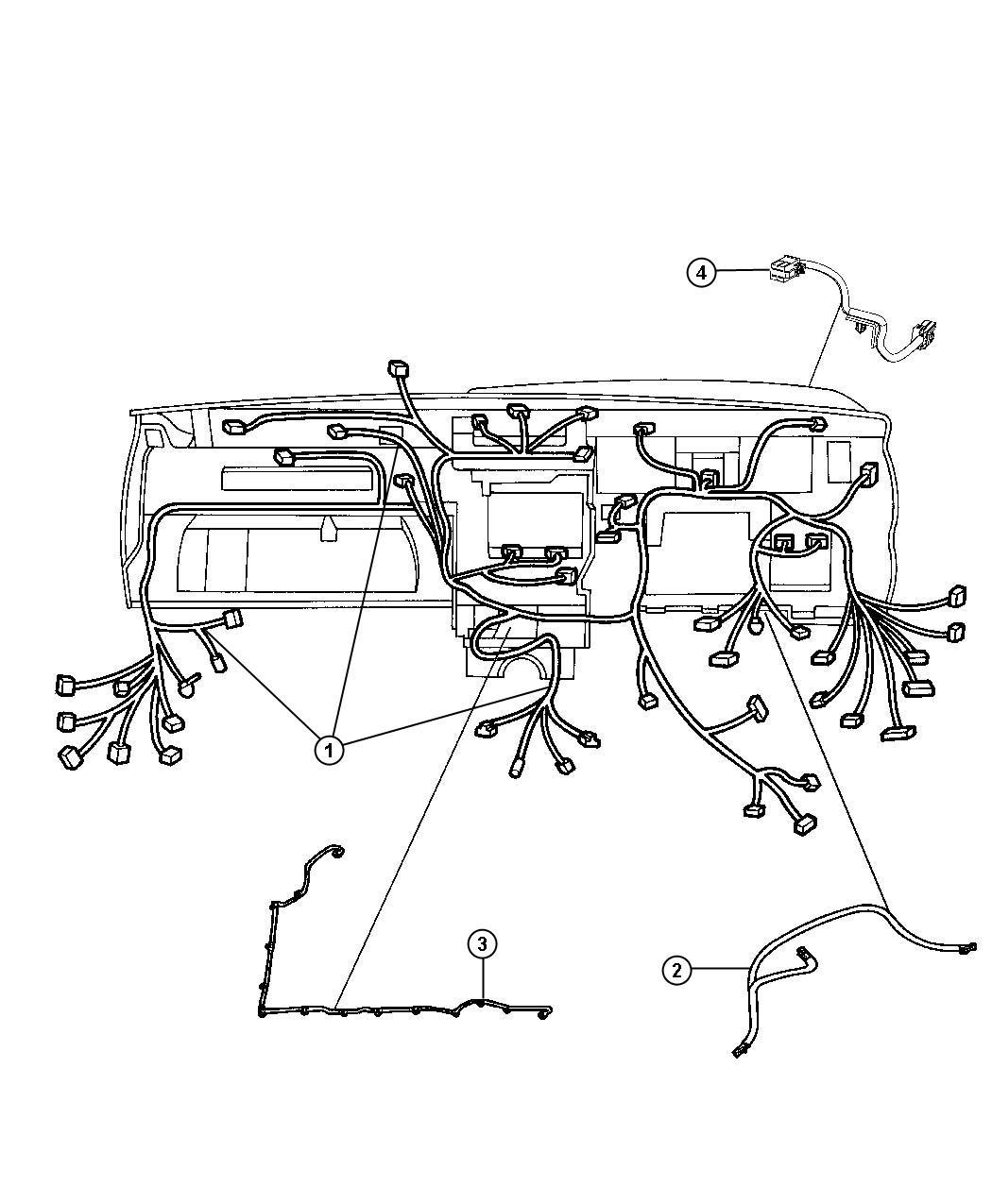 2011 Dodge Magnum Wiring. Instrument panel. Premote