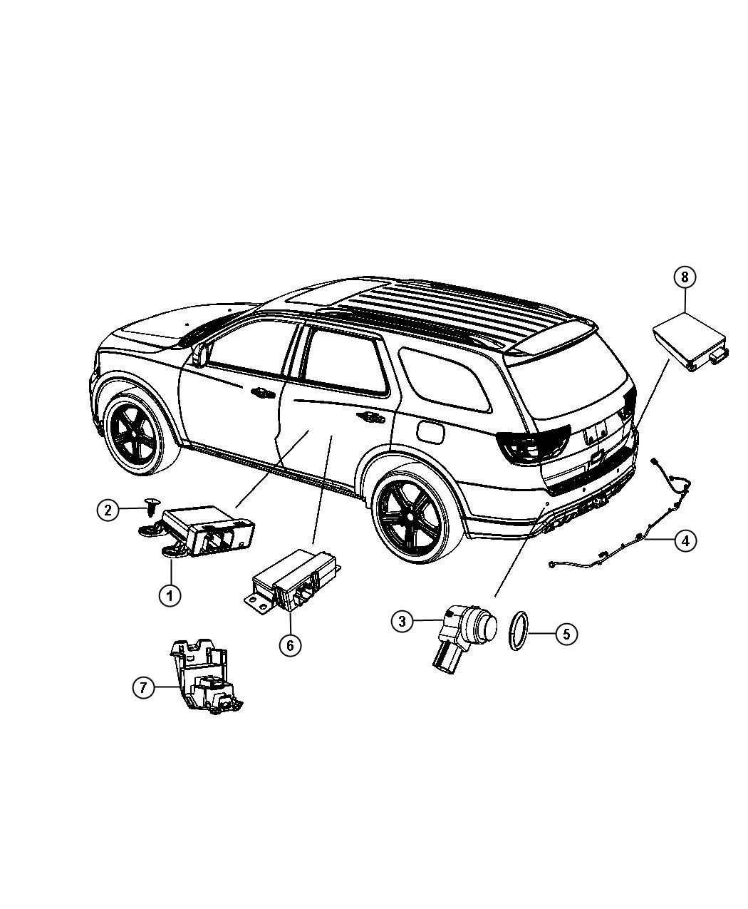 Dodge Durango Bracket Module Speed Transfer Case