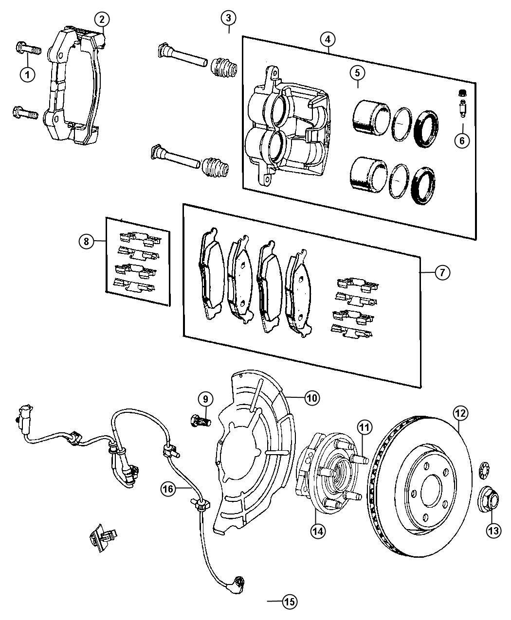 2014 Dodge Durango Rotor. Brake. Front. [bry], [x84], [bry