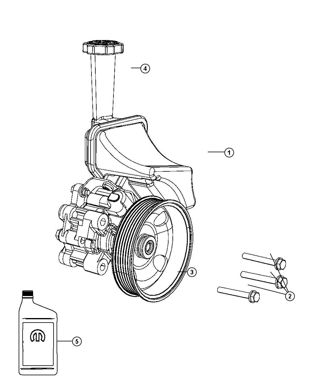 Jeep Grand Cherokee Cap Power Steering Reservoir Pump