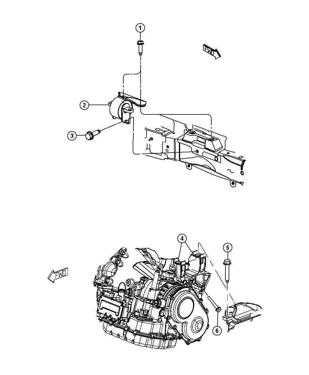 Dodge Journey Mount Transmission Left Side Engine