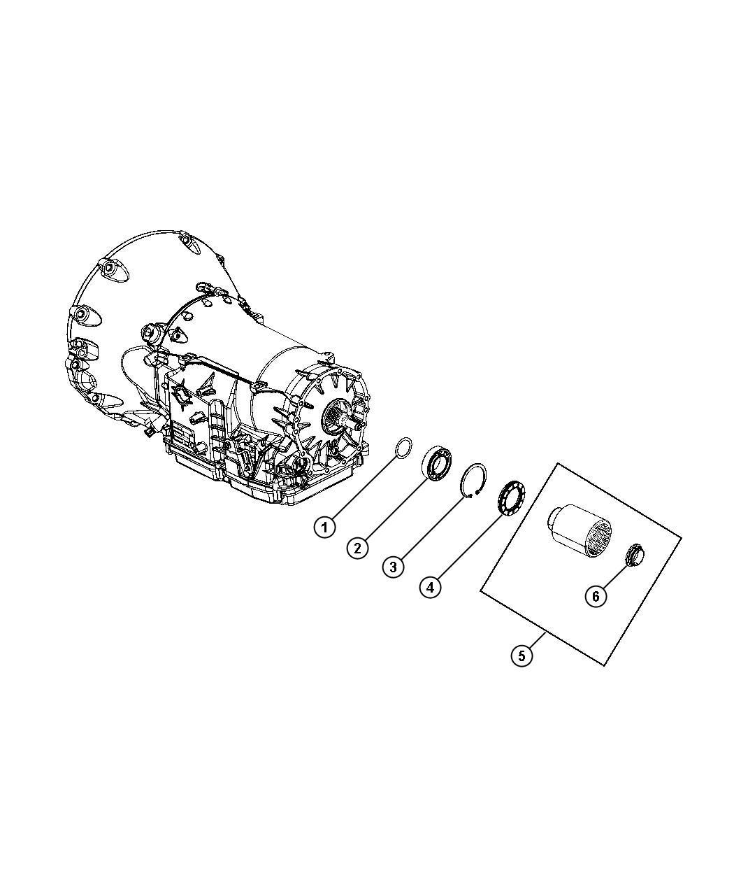 Dodge Charger Seal. Output shaft, transmission. Output