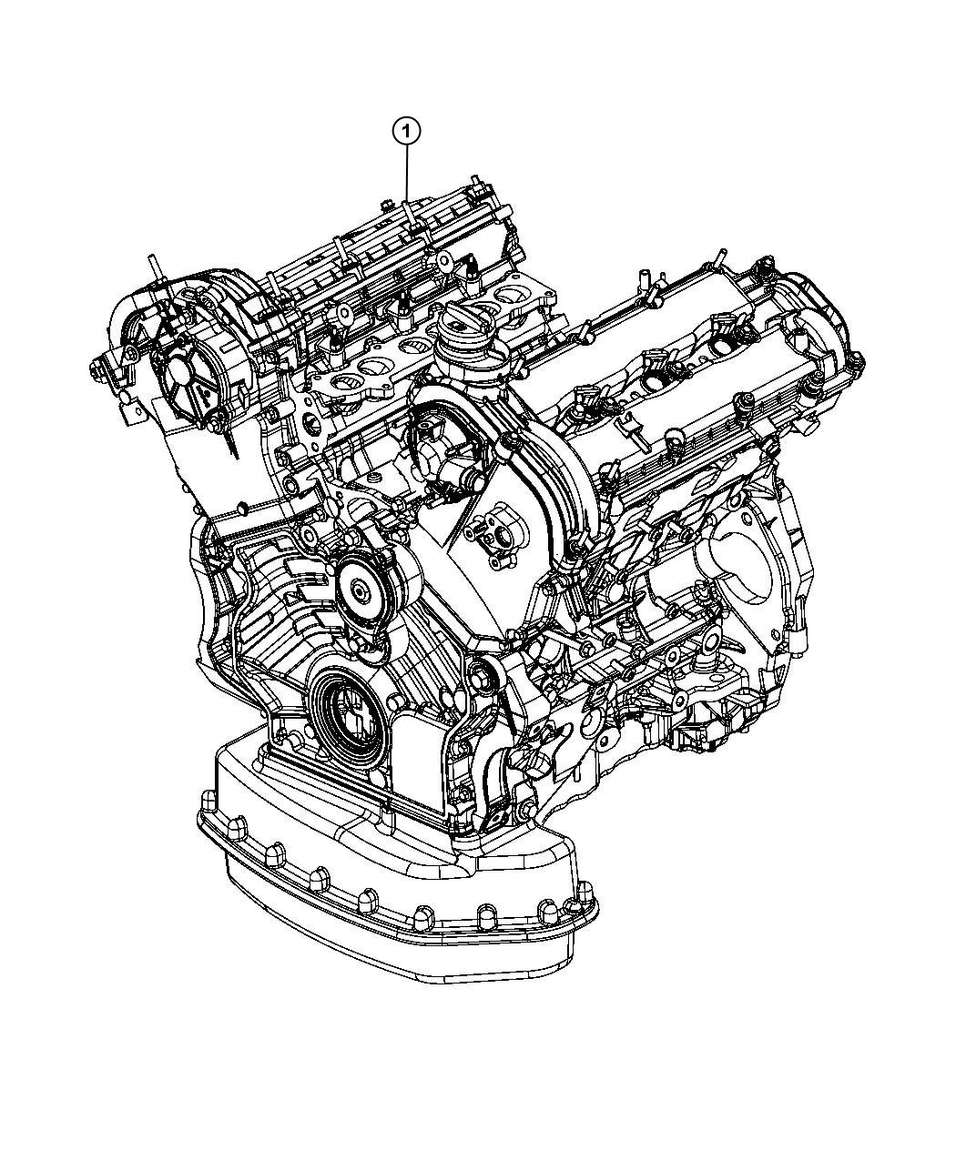 Jeep Grand Cherokee Engine Long Block New Part For
