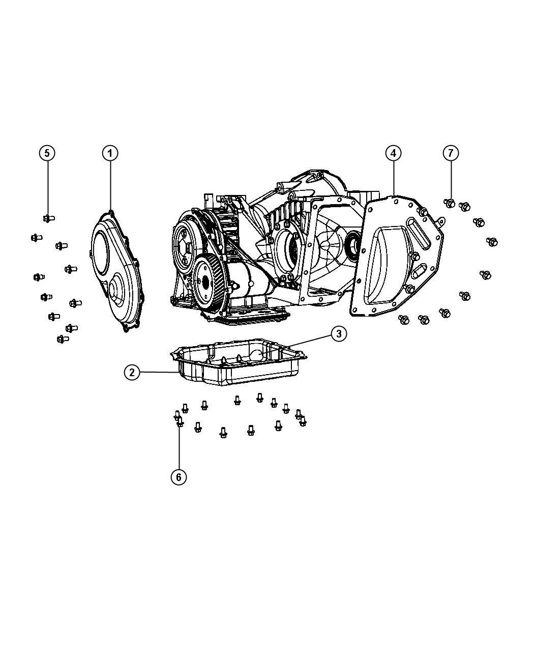 2012 Dodge Avenger Pan. Transaxle differential oil
