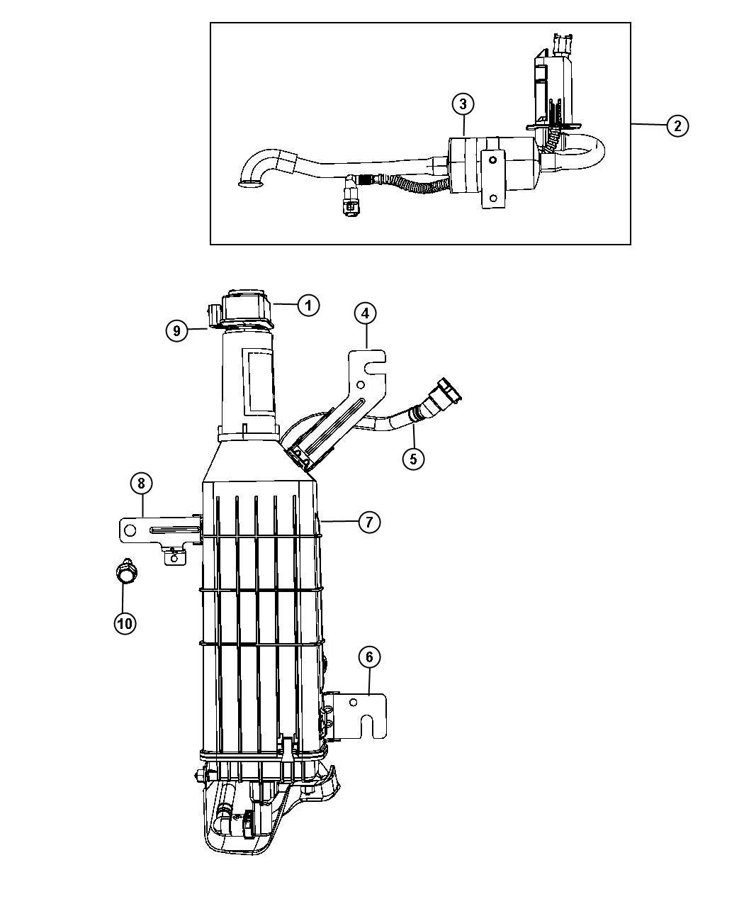 Chrysler Town & Country Hose. Vapor canister, vapor