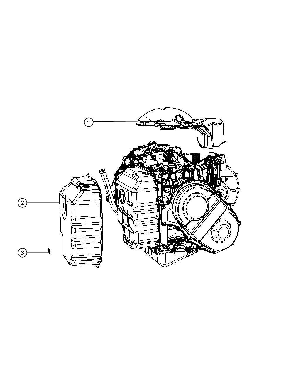 2012 Chrysler 200 Shield. Transmission. Module, power