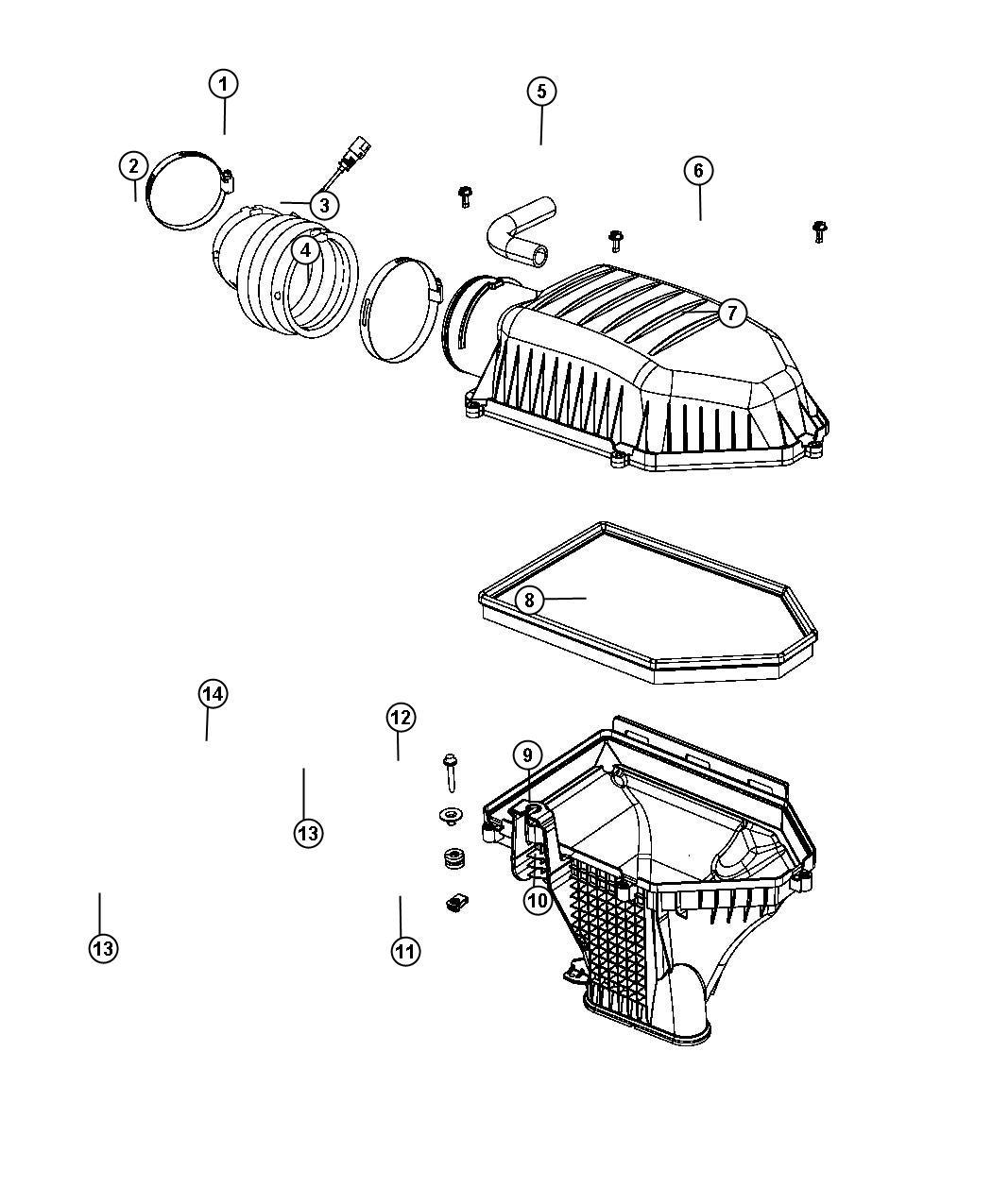 Dodge Charger Sensor. Charge air temp. Sensors, engine