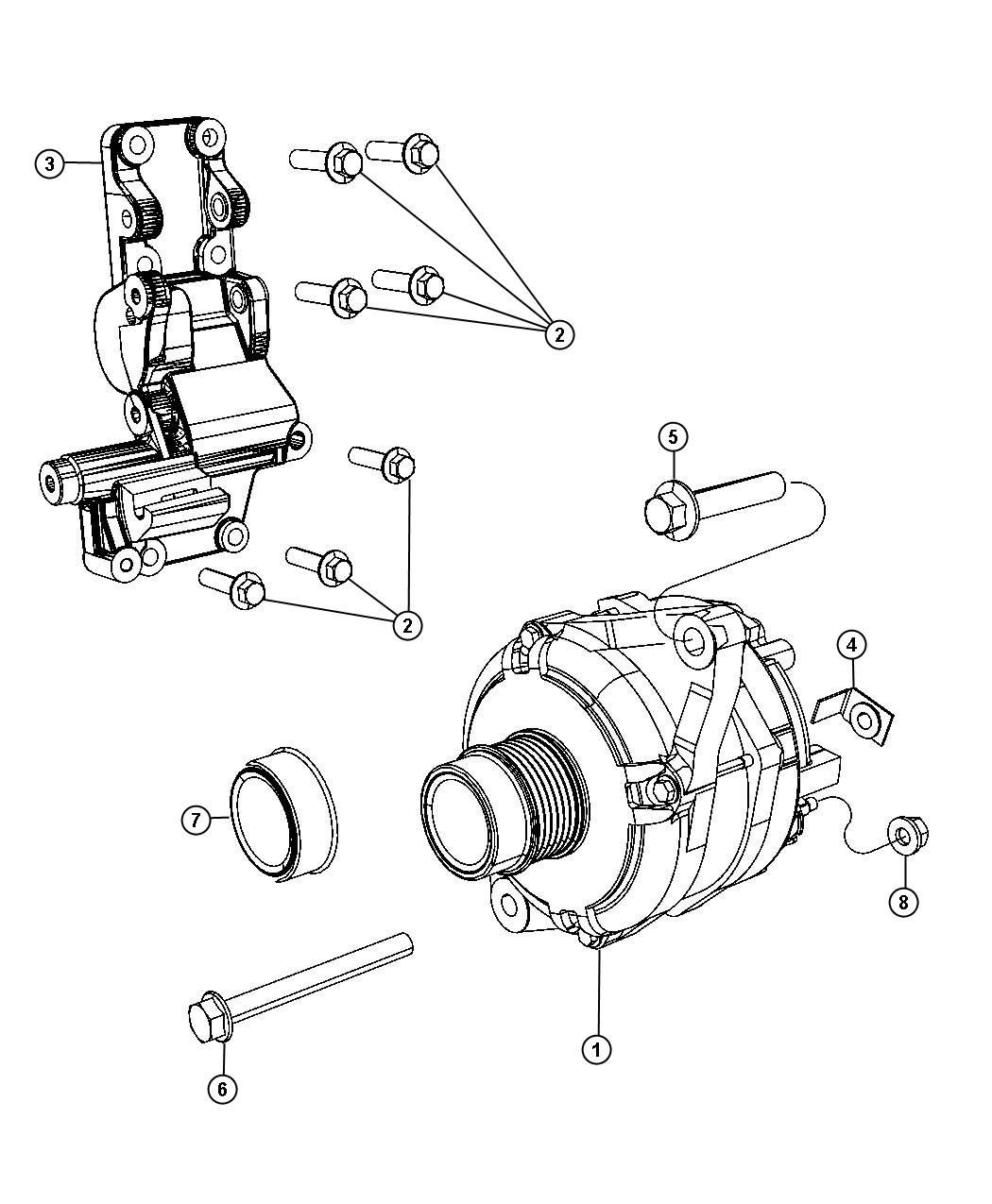 Jeep Patriot Cap Alternator Pulley Amp Module