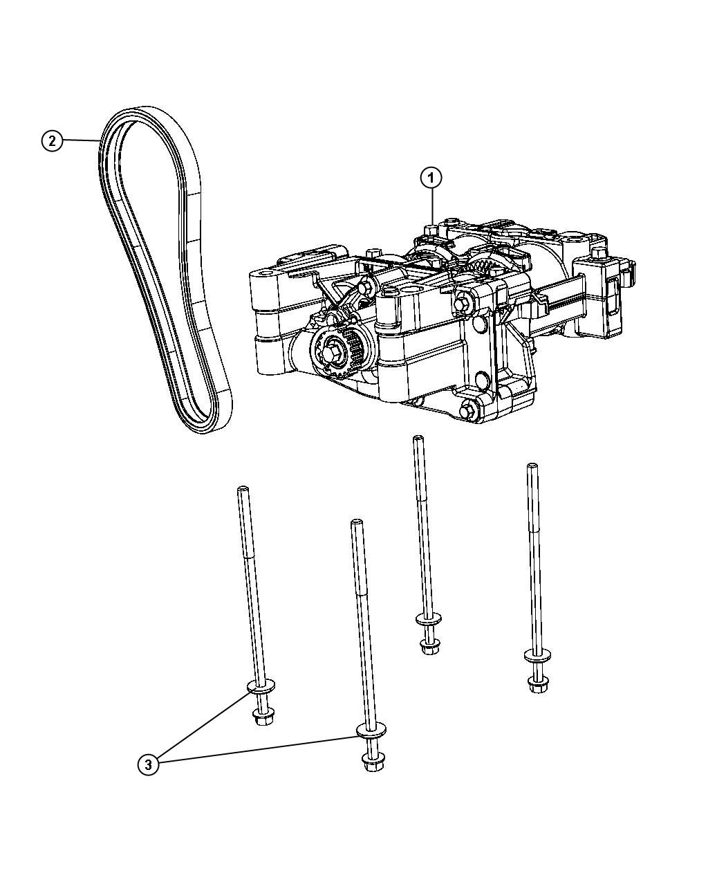 Jeep Compass Shaft package. Balance with oil pump