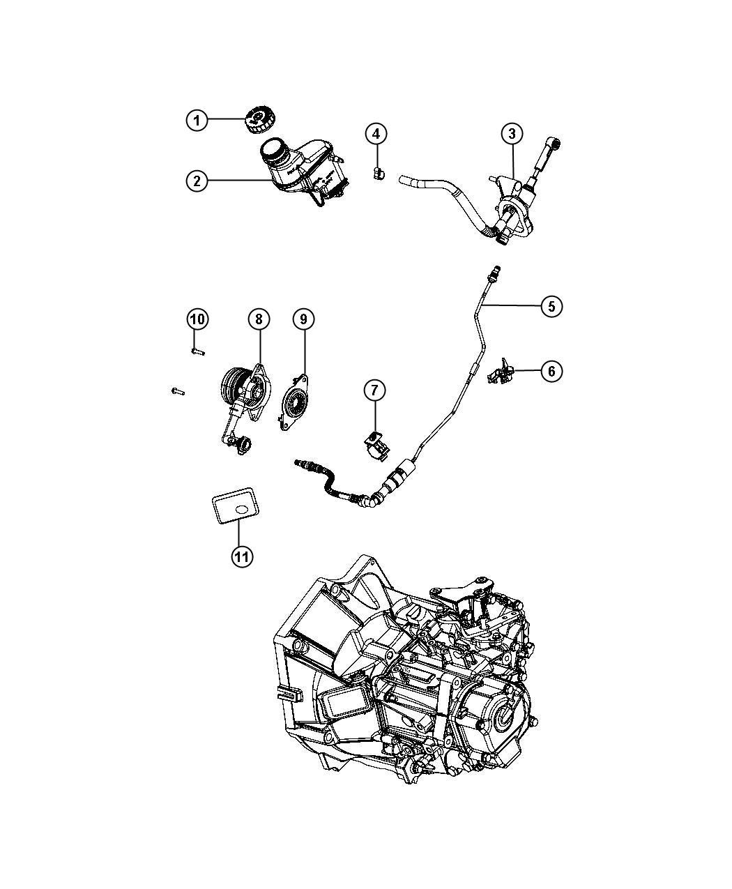 Fiat 500 Clip. Retainer. Hydraulic, controls, clutch