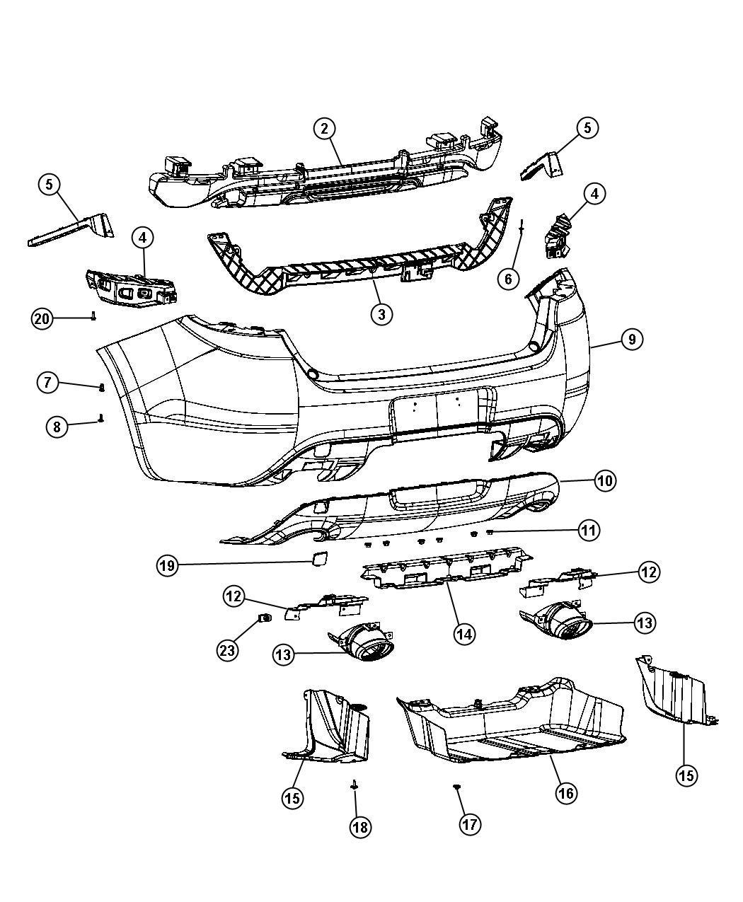 Dodge Dart Fascia Rear Upper Par Pbh Pcl