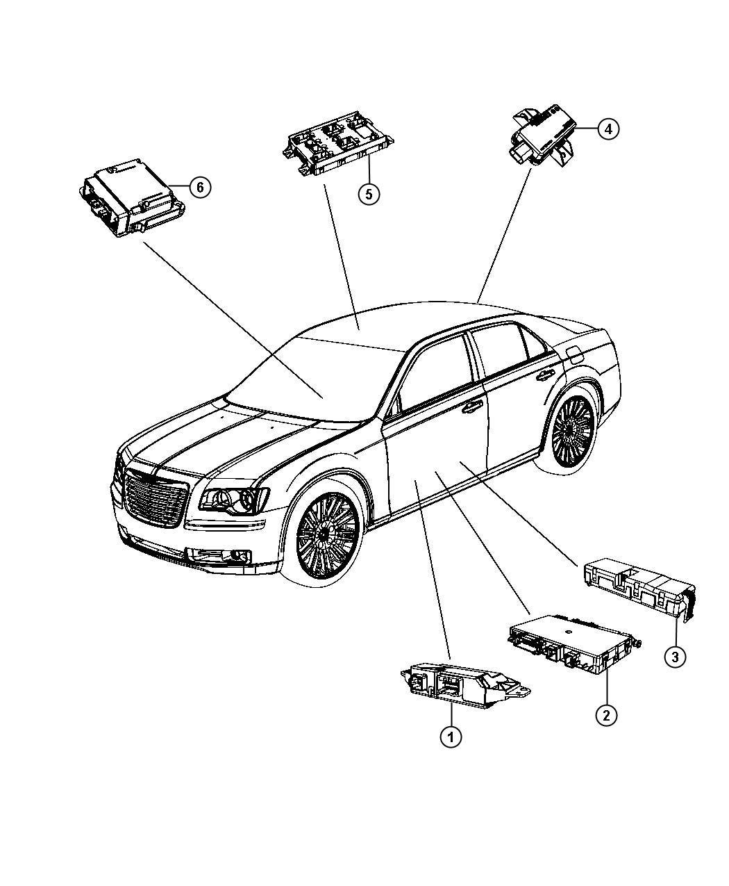 2011 Dodge Charger Module. Seat memory. Trim: (*zl