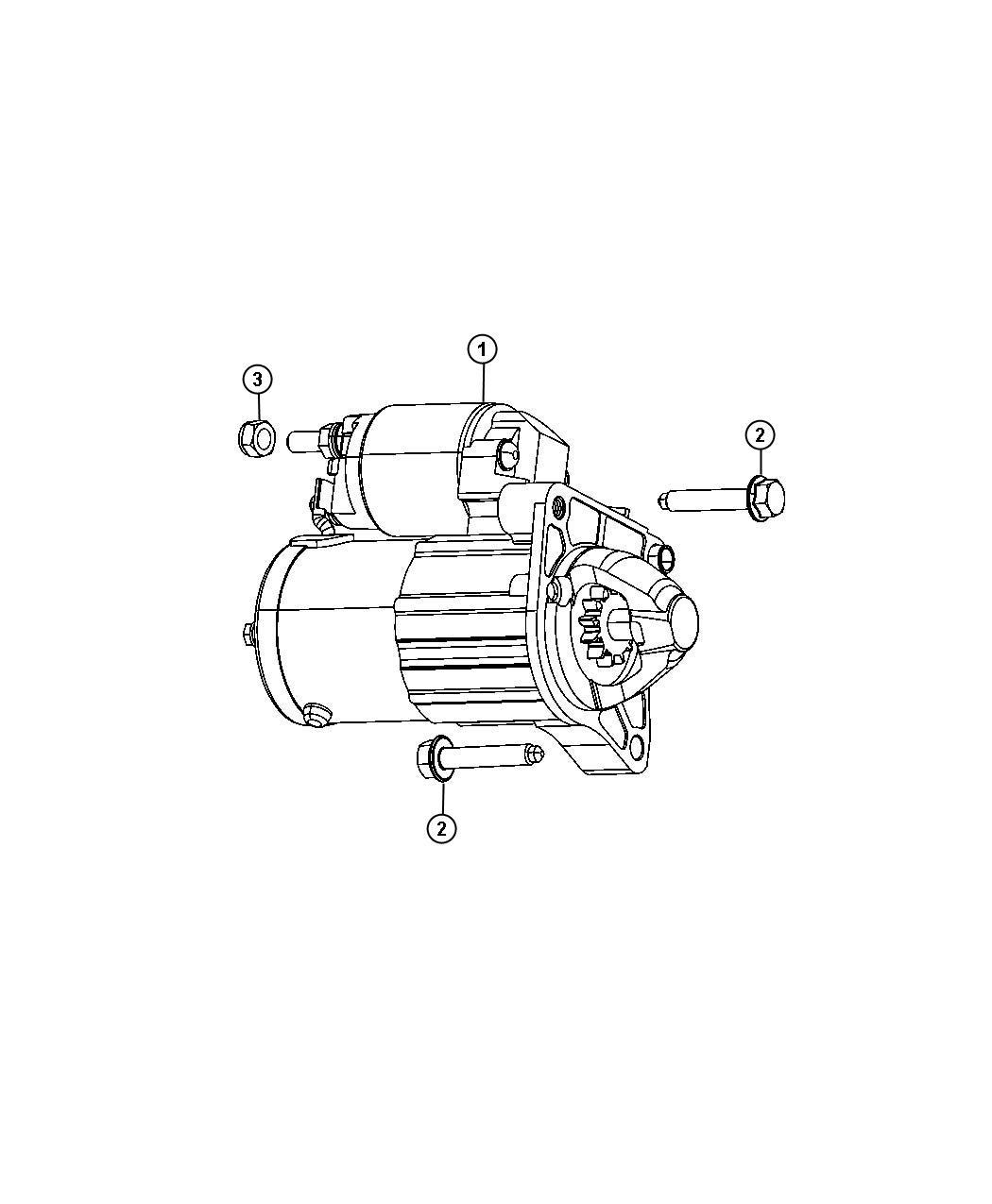 Dodge Dart Nut. Hex. M8x1.25. Alternator jumper, battery