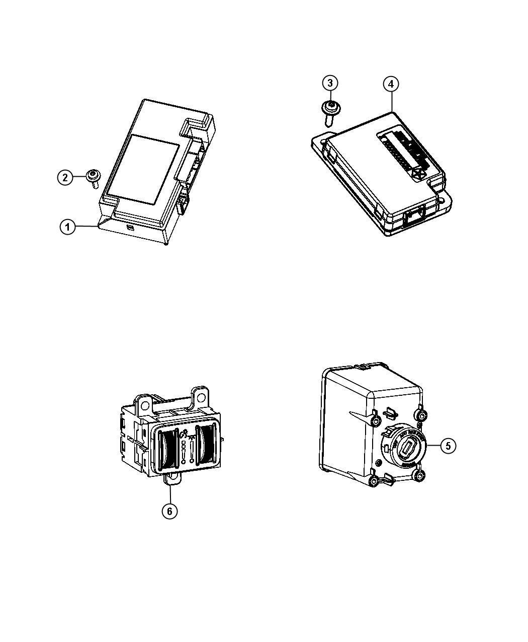 Dodge Dart Module. Ignition switch. Instrument, modules