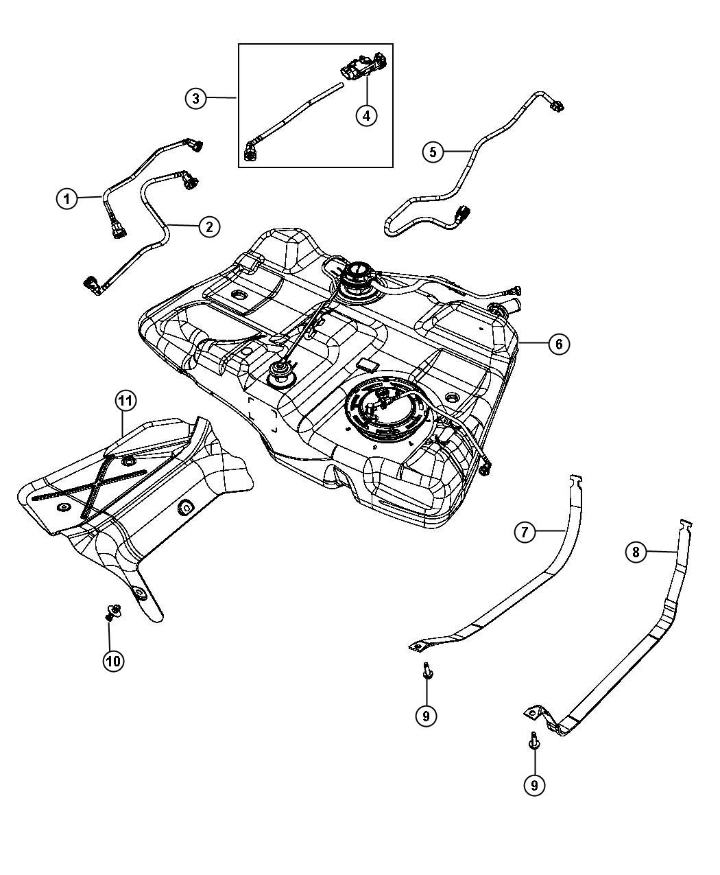 Dodge Avenger Tube Fuel Vapor Recirculation Tank Mopar