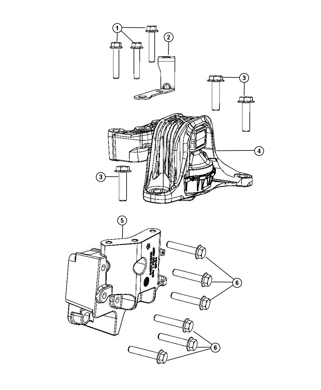 Fiat 500 Engine mount. Right. [6-spd aisin f21-250 auto