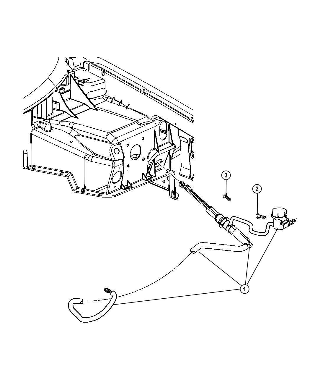 2010 Dodge Viper Actuator. Hydraulic clutch. System