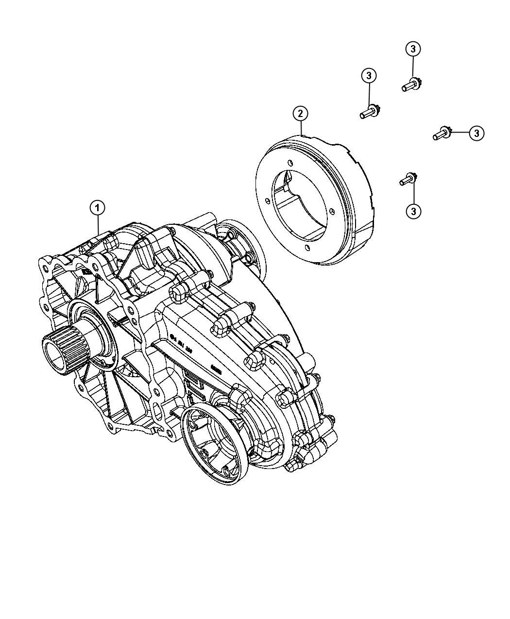 2011 Jeep Grand Cherokee Transfer case. Dhy, assembly, itc