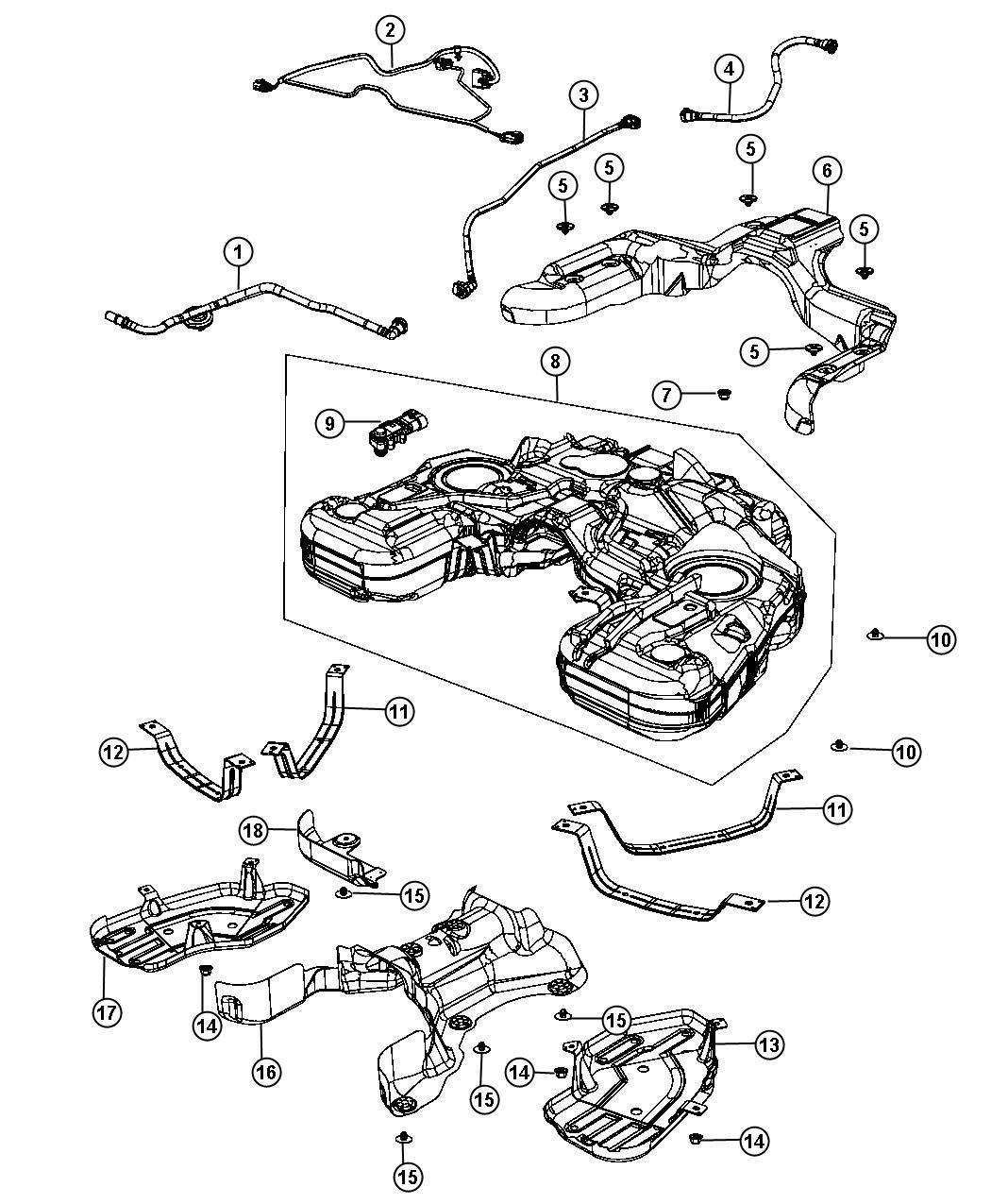2015 Dodge Durango Wiring. Fuel tank jumper. [nf4], [nf4