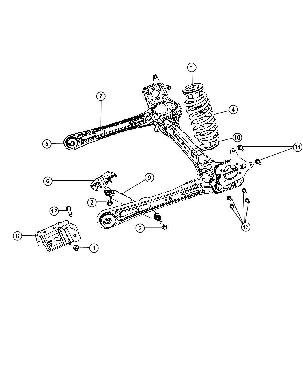 2011 Chrysler Town & Country Shock absorber kit