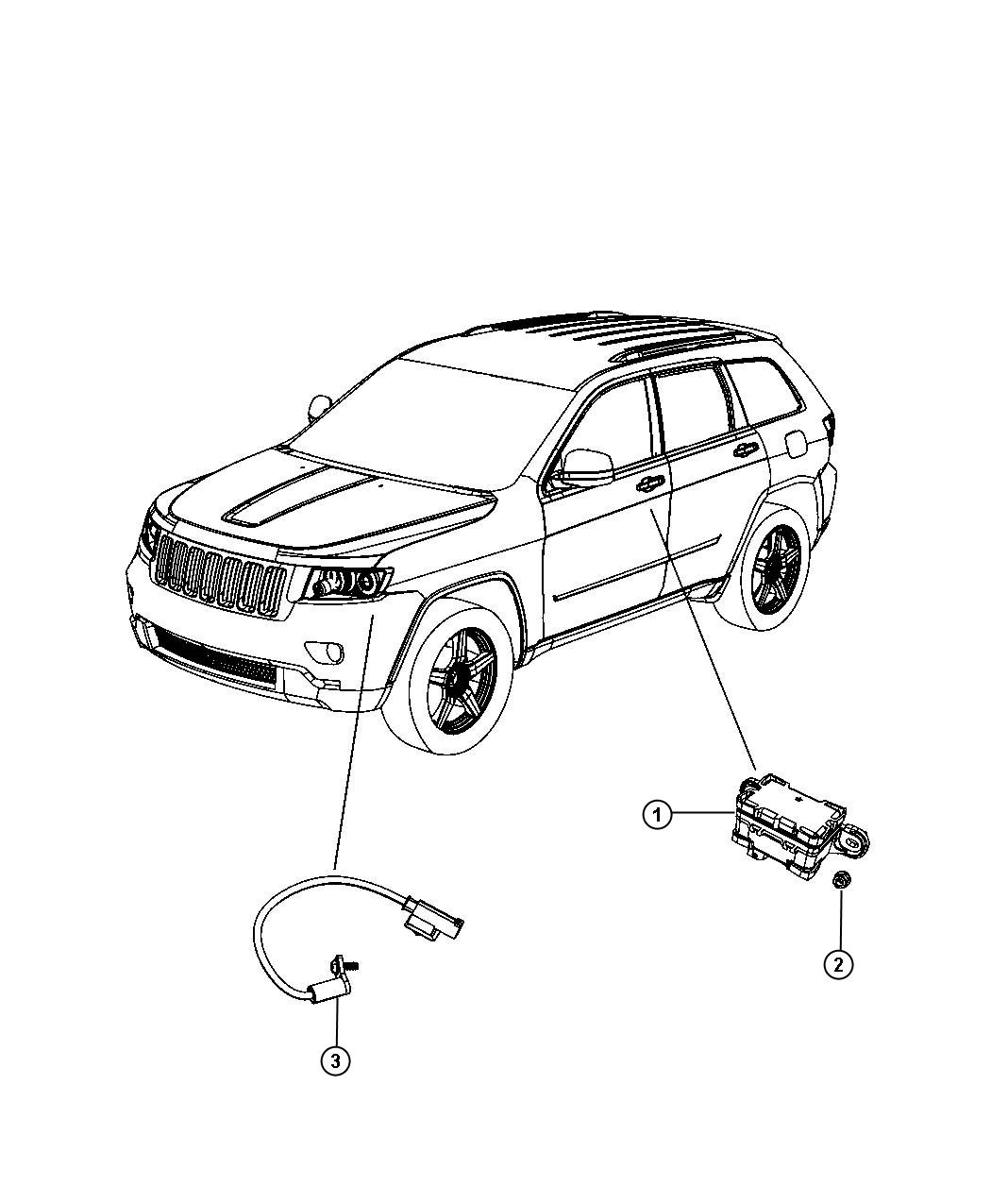 2011 Jeep Grand Cherokee Temperature sensor. Compressor