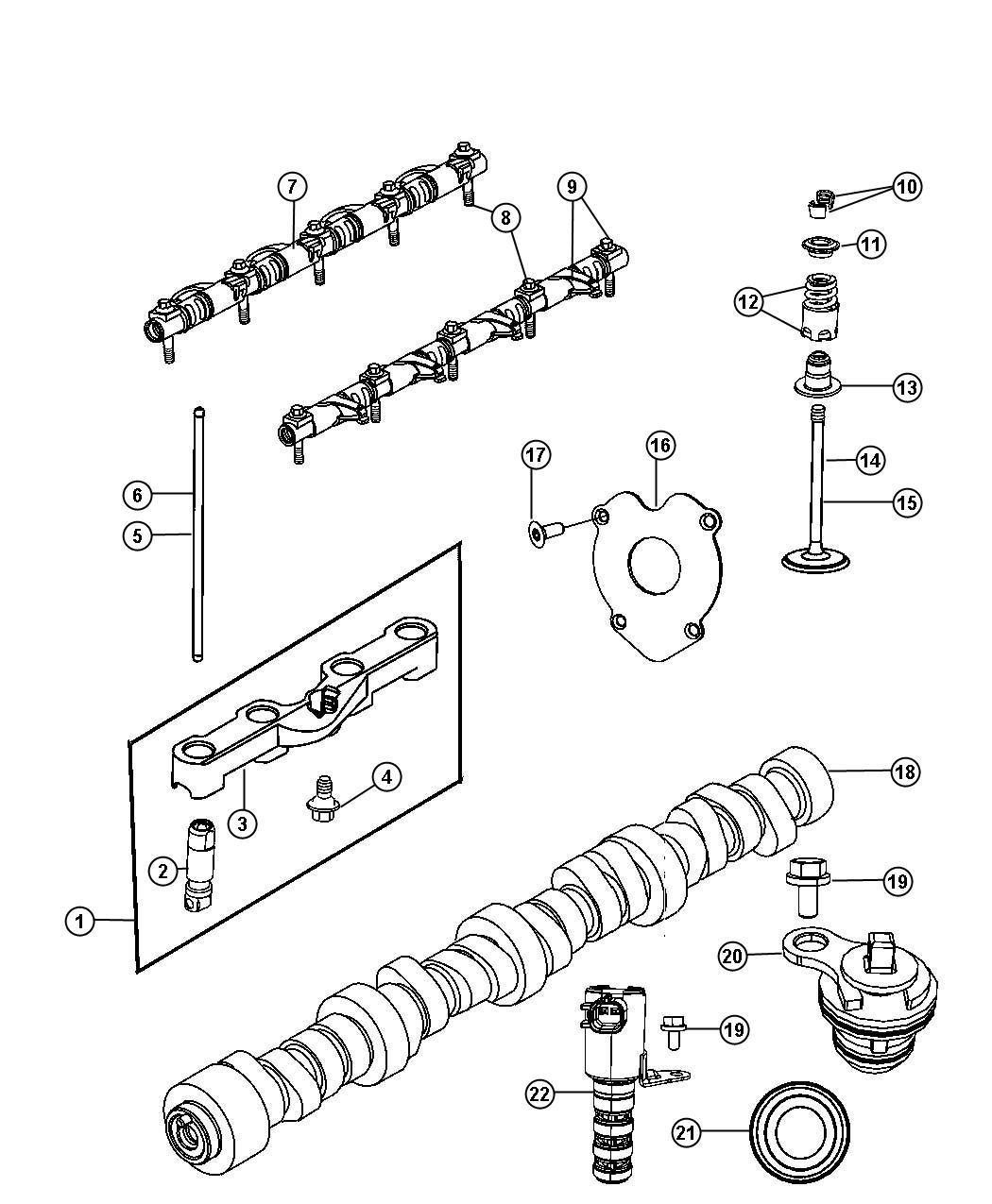 Ram 2500 Camshaft. Engine. Valvetrain, ezc, cng
