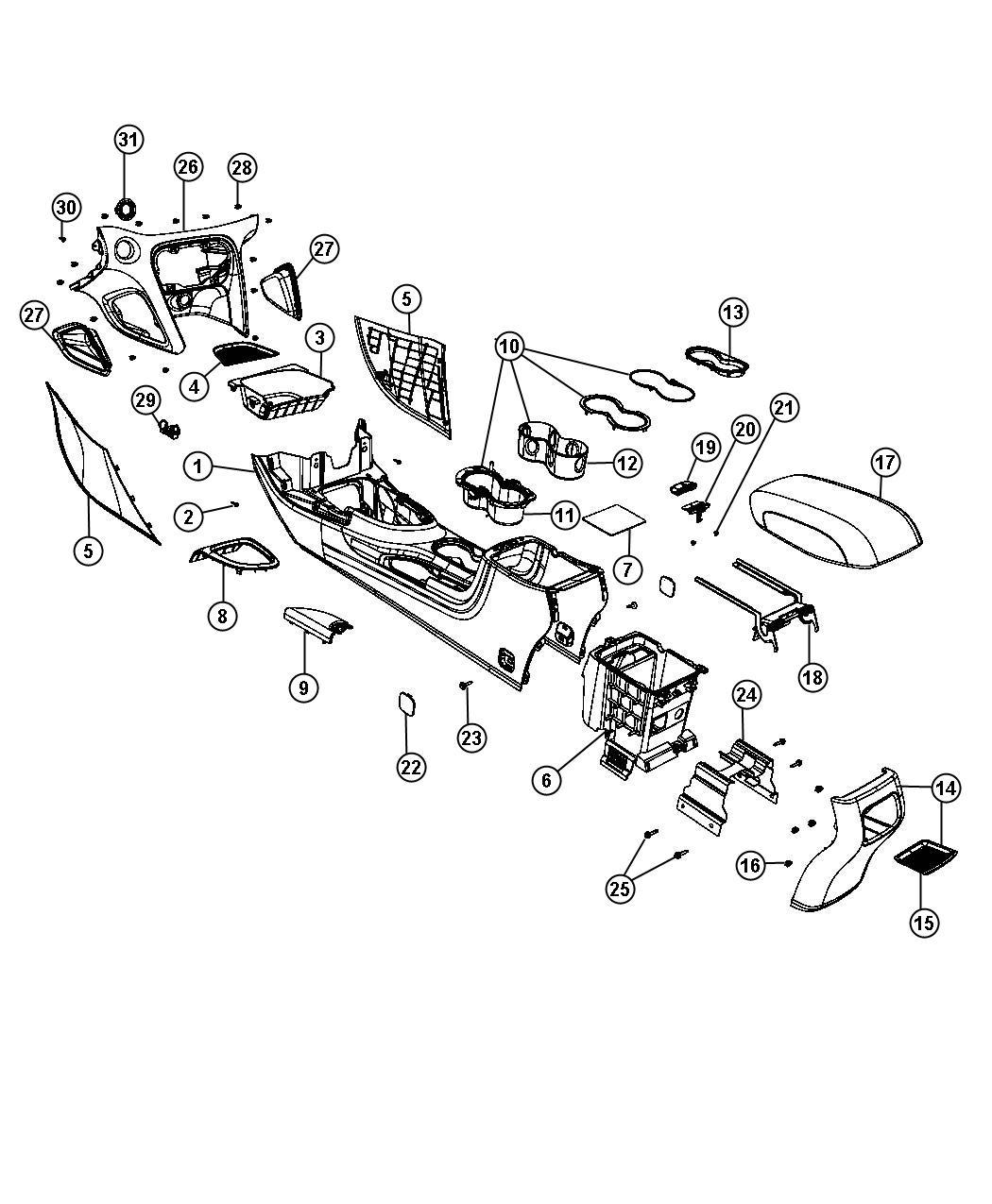 Dodge Dart Latch. Console lock. Trim: [all trim codes